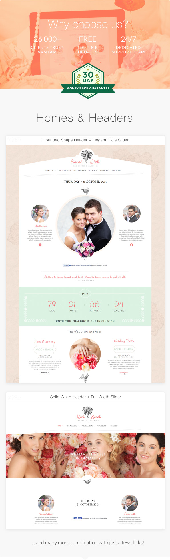 The Wedding Day Wedding Wedding Planner by vamtam ThemeForest